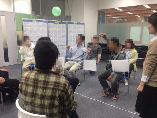 4月23日交流会(風船バレー)